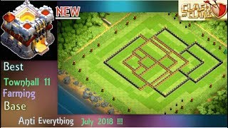 Best Th11 Farming Base NEW! | Trophy Base | Anti Everything Defense Base | July 2018