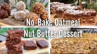 簡単オートミールデザート4種類‼️No-Bake Oatmeal Recipe | 4 Easy & Healthy Dessert‼︎