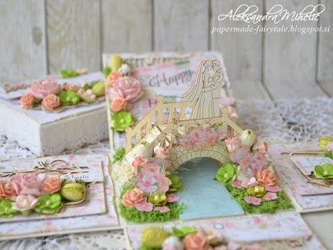 Happy together exploding box with Wild Orchid Crafts and Nitwit Collections
