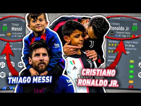 Messi And Ronaldo SONS In FIFA 20 Career Mode! (Thiago Messi + Ronaldo Jr.)