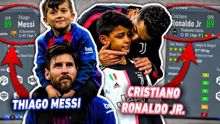 Messi And Ronaldo SONS In FIFA 20 Career Mode! (Thiago Messi + Ronaldo Jr.🙌🏽)