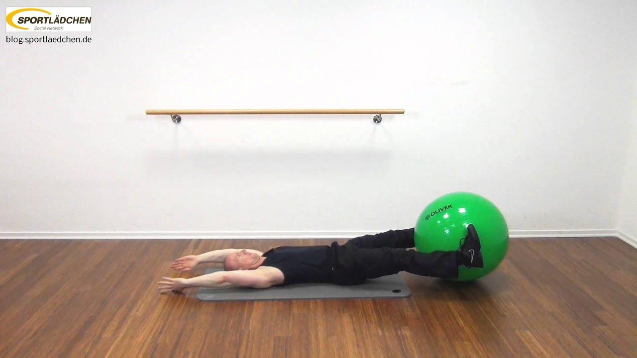 bauchmuskeltraining mit dem gymnastikball youtube. Black Bedroom Furniture Sets. Home Design Ideas