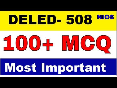 DELED 508 Important 100 MCQ Questions Part-1 परीक्षा में पूछे जाएंगे   msadvisor