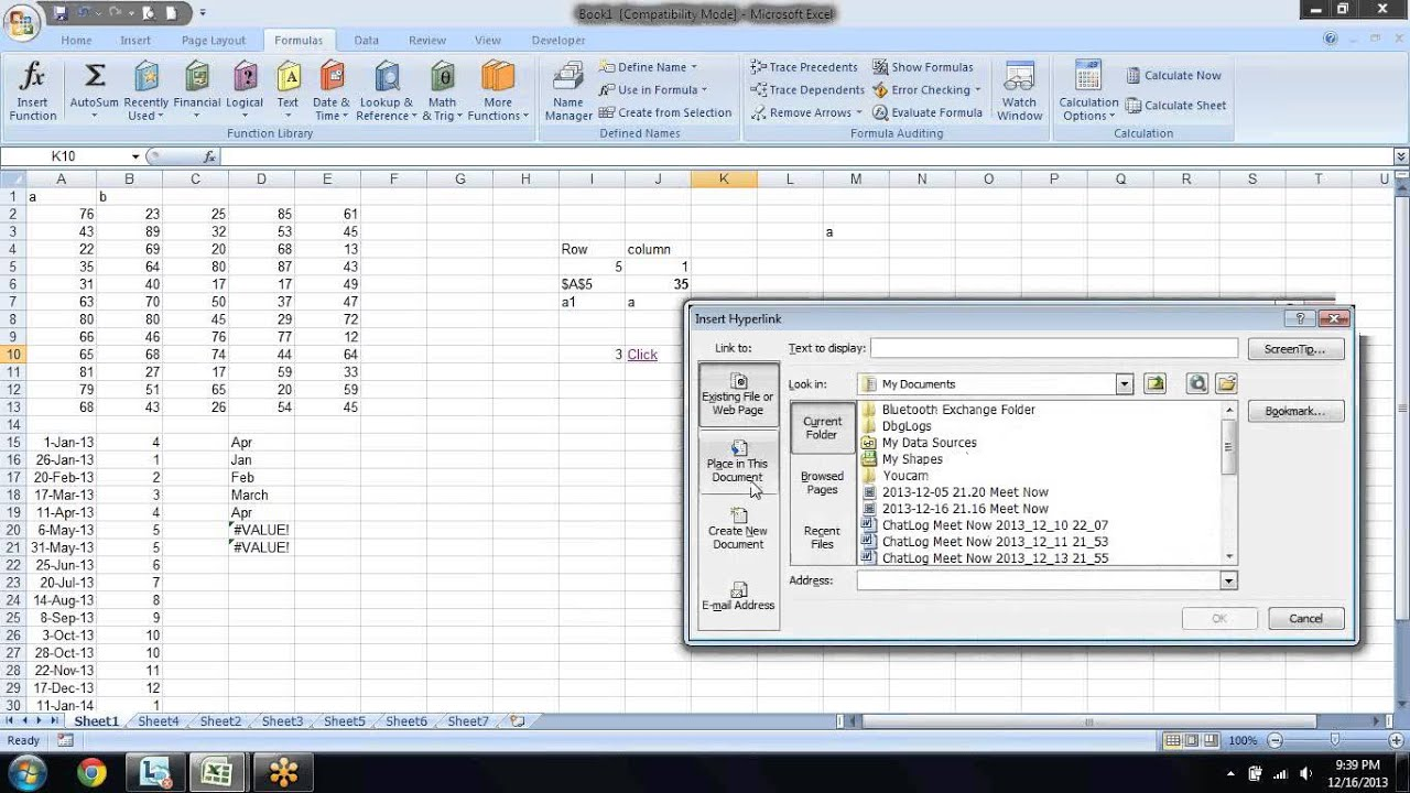 Excel Formula Training Lookup And References