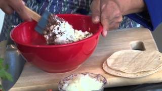 Guatemalan Dobladas-soft Corn Tortillas Stuffed With Refried Beans And Cheese