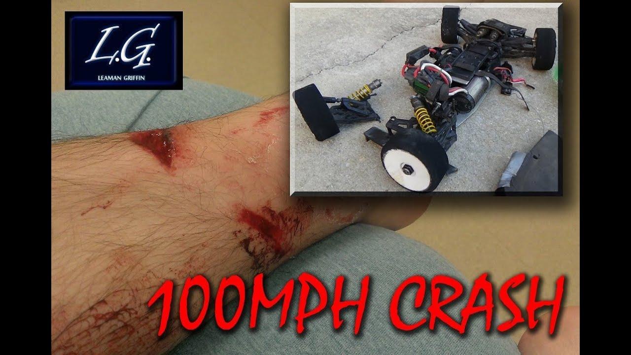 Rc Car Speed Run Insane Horrible Crash Flips Guy Over At 100Mph Worst Ever