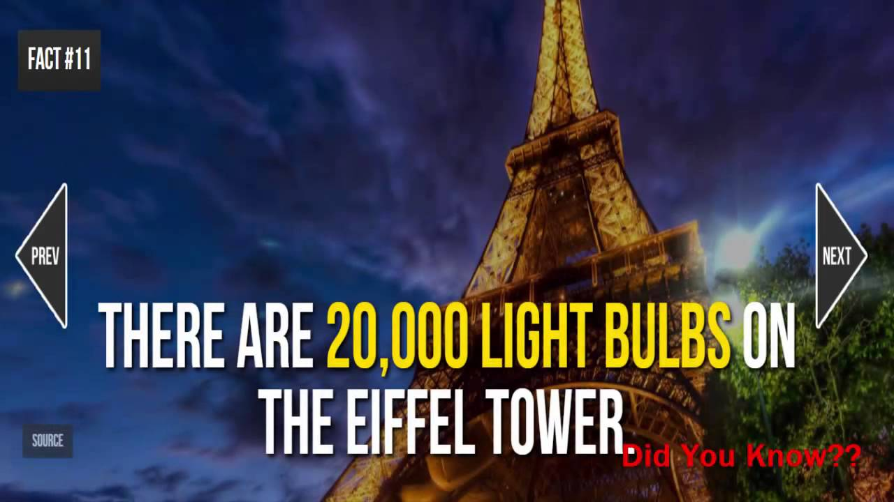 Eiffel Tower Facts 20 Facts About The Eiffel Tower Youtube