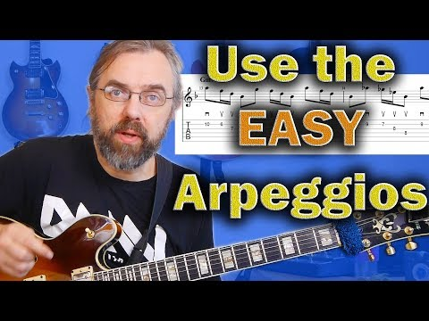 Arpeggios that are easy to Play and How to make them into Jazz Guitar Licks