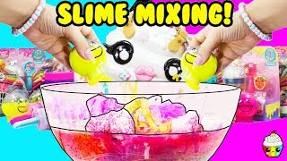 SLIME MIXING Old, New + DIY Slime + Pooey Puitton Slime Mixing + Making