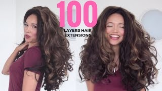 100 + Layers of Hair Extensions Weave I Madame Hair