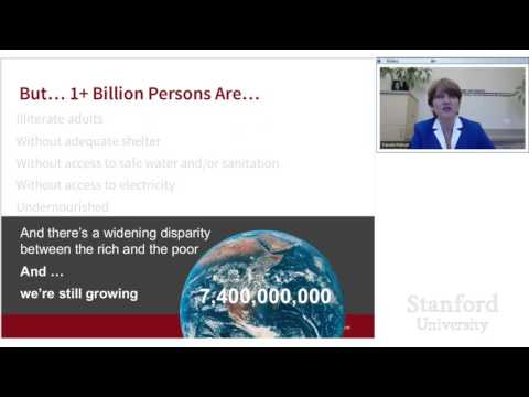 Stanford Webinar:  The Pursuit of Sustainability