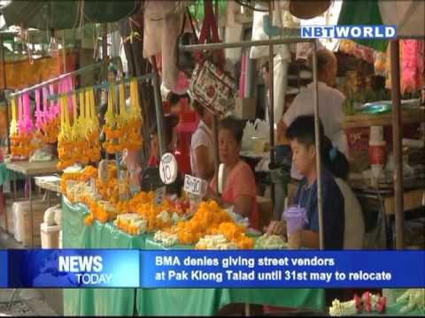 BMA denies giving street vendors at Pak Klong Talad until 31st May to relocate