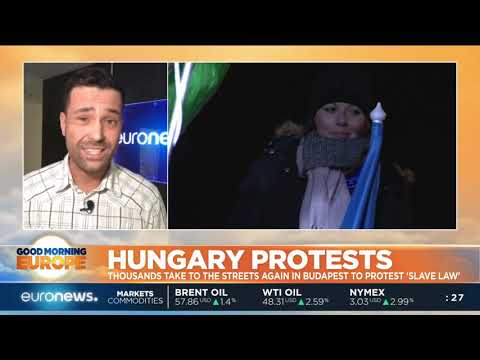 Thousands take to the streets in Budapest to protest 'Slave