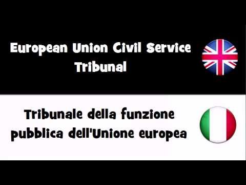 SAY IT IN 20 LANGUAGES = European Union Civil Service Tribunal