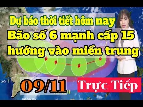 Dự báo thời tiết Bình Định hôm nay- Bão số 6 mạnh cấp 15 hướng vào miền trung