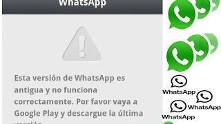 Renovar whatsapp Caduco Version Descarga La ultima Actualización 2015