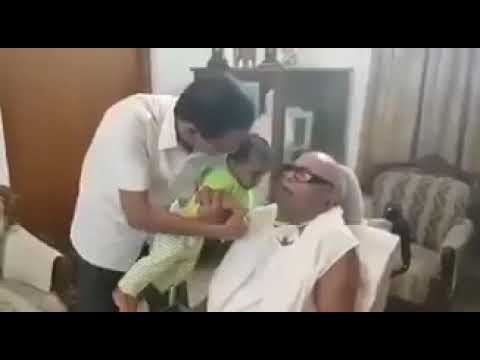 Kalaignar with great grandson