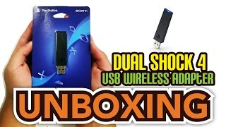 dualshock 4 usb wireless adapter playstation 4 unboxing