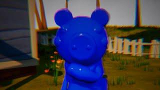 PAINTING ROBLOX PIGGY BLUE - Hello Neighbor Mod