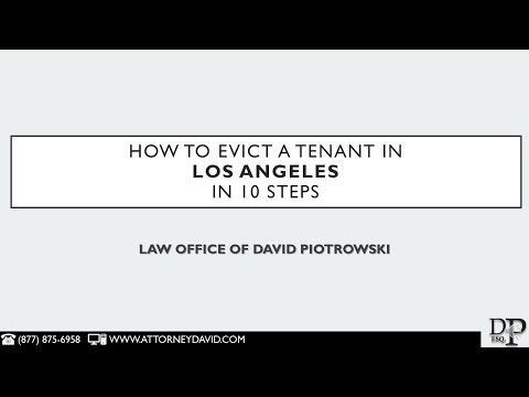 How To Evict A Tenant In Los Angeles In 10 Steps
