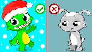 Groovy Марсианин превращается в Рудольфа, чтобы помочь Санта-Клаусу доставить рождественские подарк