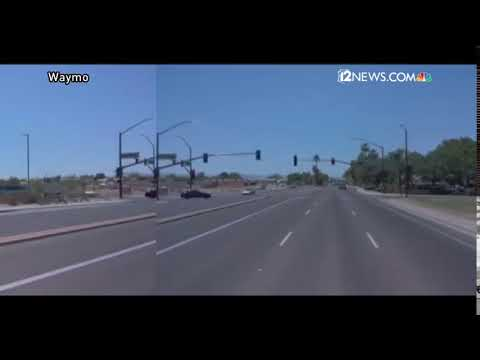 Waymo video of Chandler crash