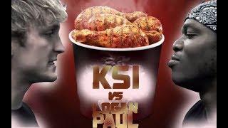 KSI vs LOGAN PAUL fight special food