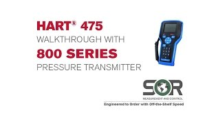 HART® 475 Walkthrough with 800 Series Pressure Transmitter