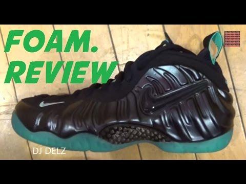 wholesale dealer 854b0 55ffe Nike Air Foamposite Pro Obsidian Light Aqua Sneaker Review W/ @DjDelz  #HotOrNot