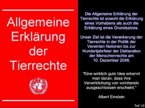 Allgemeine Erklärung Der Tierrechte 1/2