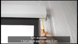 Projection Screen Deluxe Users Guide Black Drop
