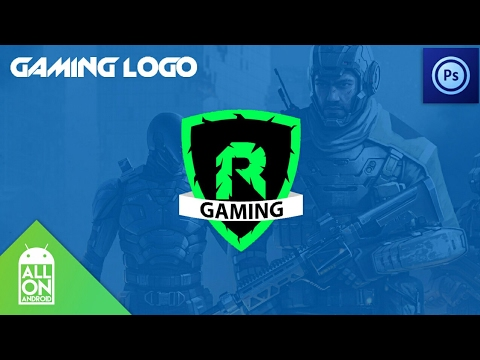 How to make gaming logo on Android Photoshop Touch - YouTube