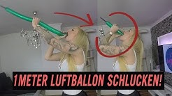 1 METER LUFTBALLON SCHLUCKEN!     | LUCY CAT