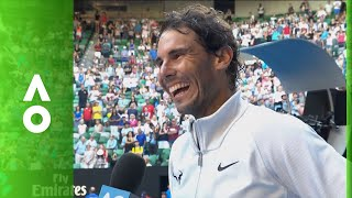 Rafael Nadal on court interview (2R)   Australian Open 2018