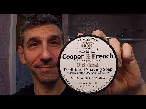 "Cooper & French ""Old Goat"" shave soap and balm - Gillette ""Old Type"" safety razor"