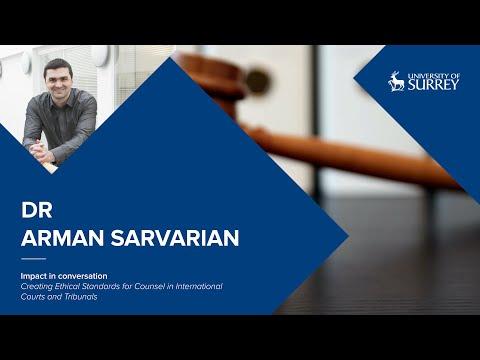 Play video: Impact in Conversation: Dr Arman Sarvarian   University of Surrey