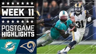 Dolphins vs. Rams | NFL Week 11 Game Highlights