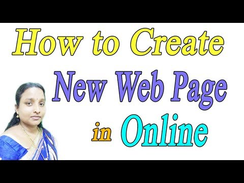 How to Create New Web Page Online in Tamil