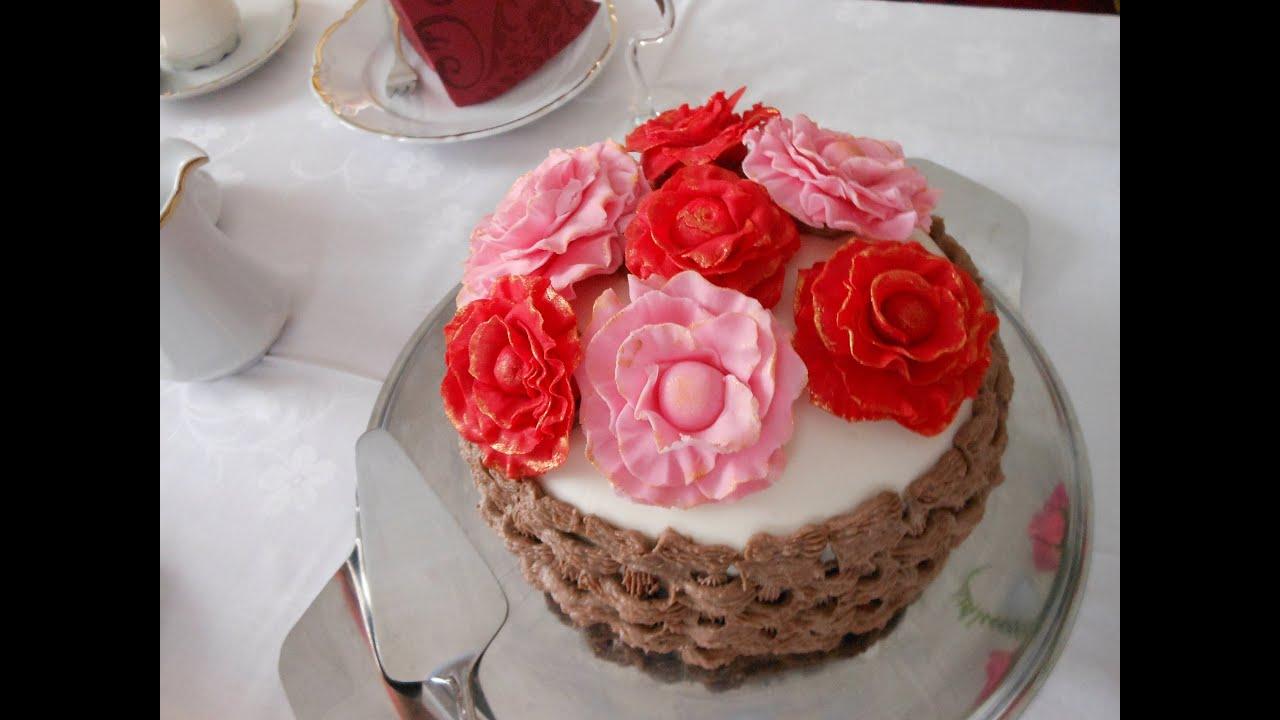 geburtstagskuchen rosenkorb youtube