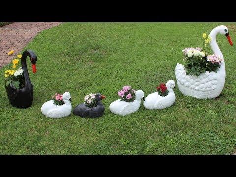 DIY Schwanenjungen,Deko für den Garten/DIY Swan Babys,Decoration for the Garden