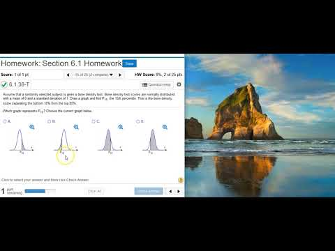 Finding The Percentile For A Standard Normal Distribution