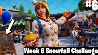 Fortnite Week 6 Secret Banner Location | #6 Loading Screen | Snowfall Challenge