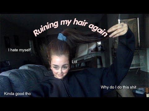 Ruining My Hair Again (bleach Bath On Black Hair)
