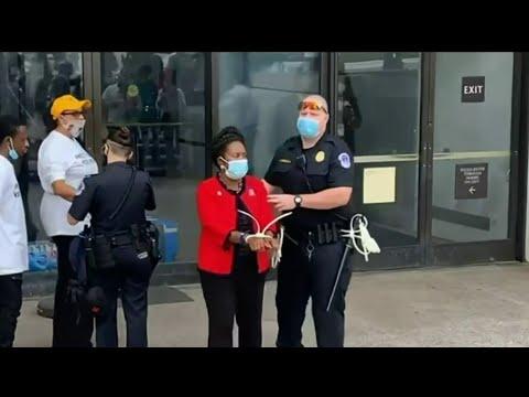 Congresswoman Sheila Jackson Lee speaks out about arrest in Washington, D.C.