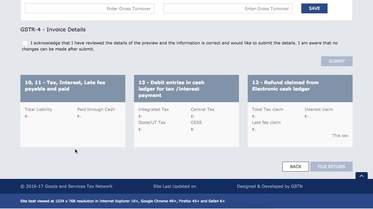 Live Demo of GSTR-4 Filing on GST Portal | Nil Filing Demo of GSTR-4 for  Composition Dealer