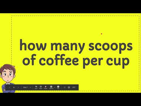 How Many Scoops Of Coffee Per Cup Youtube