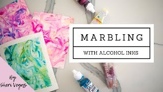 How to Marble with ALCOHOL INKS!  (easy DIY)