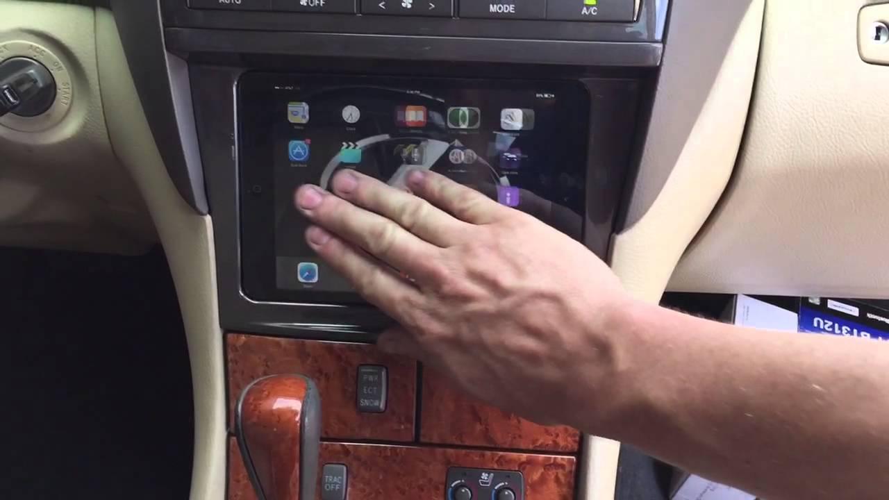 ipad mini dash 2006 lexus ls430 double din stereo install [ 1280 x 720 Pixel ]