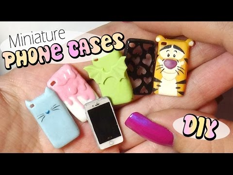 Cute & Easy Miniature Phone Case Tutorial // Doll/Dollhouse