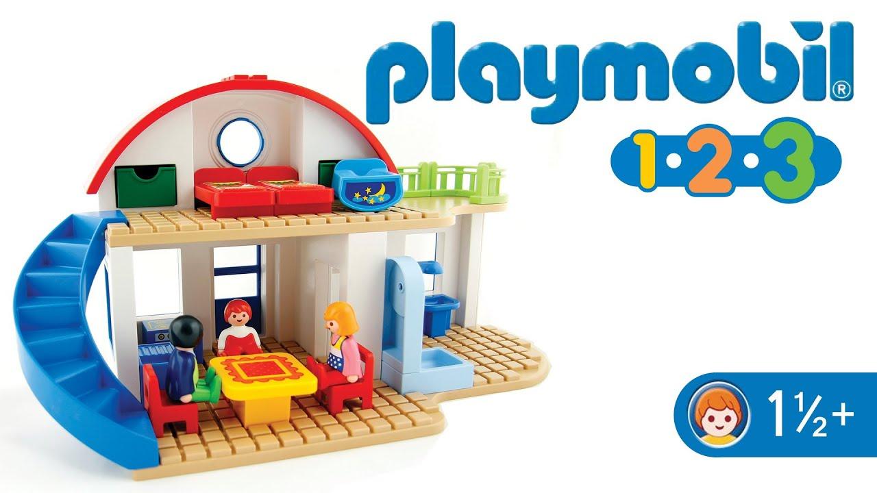 Playmobil 123 6784 suburban home youtube for Casa moderna playmobil 6784